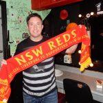 Robbie Fowler with LFCNSW Reds scarf