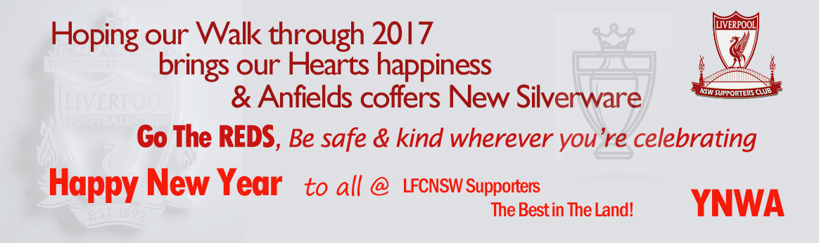 LFC Happy New Year from NSW supporters club