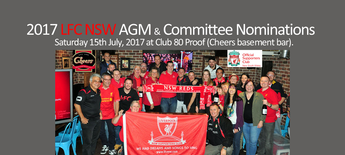 2017 LFC NSW AGM & Committee Nominations