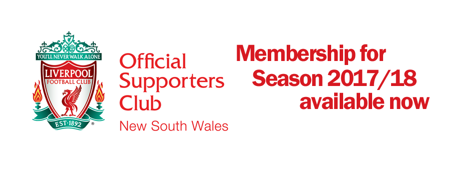 lfcnsw supporters club membership for 2017-18 season