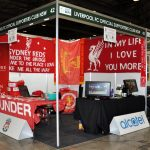 photo gallery of lfcnsw supporters club stand at football expo