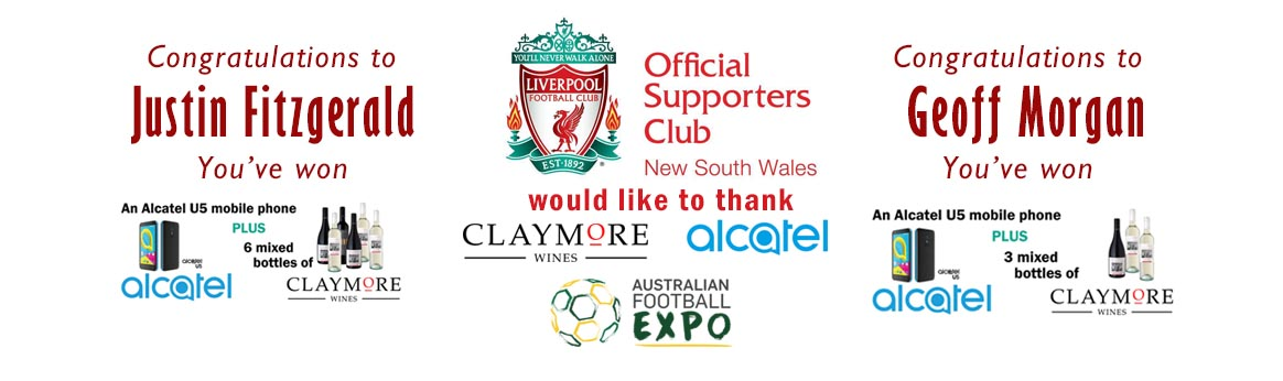 lfcnsw claymore wines alcatel phone winners at football expo