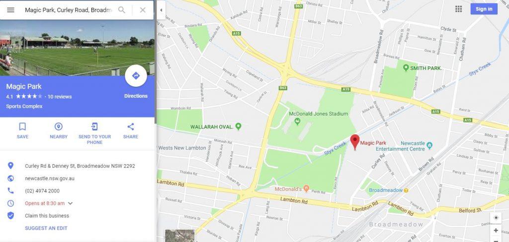 broadwater magic park football club newcastle