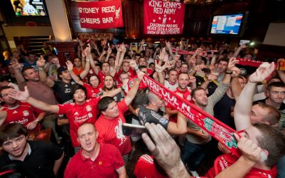Game day at Cheers Bar Sydney